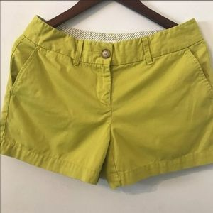 Ann Taylor Loft Size 2 Lemon Grass Green Shorts